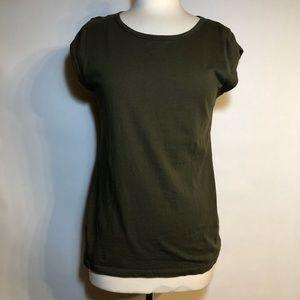 J.Crew cotton/linen cap sleeve top. Size M